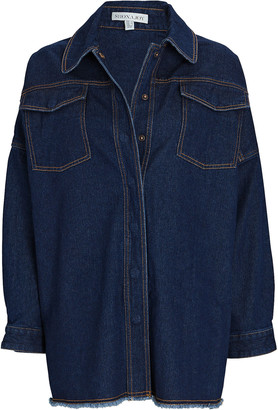 Shona Joy Emmerson Denim Button-Down Shirt