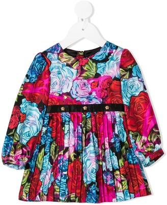 Versace Pleated Skirt Midi Dress