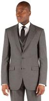 Thomas Nash Grey Narrow Stripe 2 Button Tailored Fit Suit Jacket
