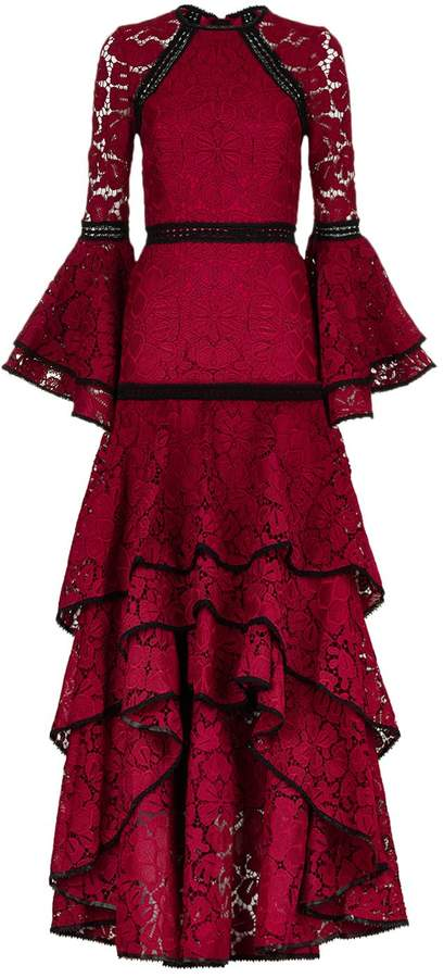 Alexis Laurel Tiered Lace Gown