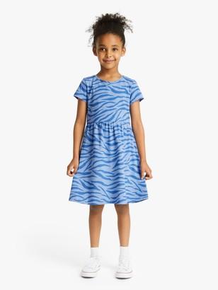 John Lewis & Partners Girls' Zebra Print Dress