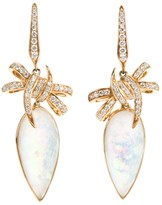 Stephen Webster 'Forget Me Knot' quartz and diamond bow earrings