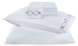 Vcny Home VCNY Home Floral Wave Embroidered White 6 -Piece Sheet Set, Multiple Sizes Available