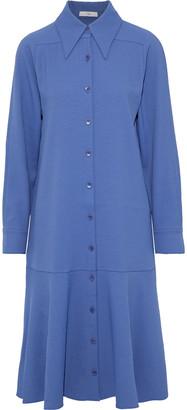 Tibi Fluted Stretch-twill Shirt Dress