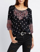 Charlotte Russe Tribal Print Tunic Top