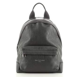Balenciaga \N Grey Leather Backpacks