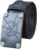 QISHI YUHUA PD Mens Classic Retro Fashion Soft Leather Belts(,S)