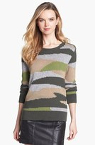 Vince Camuto Two by Camouflage Intarsia Sweater