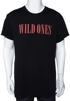 Thumbnail for your product : Amiri Black Cotton Wild Ones Print Round Neck T-Shirt S