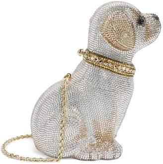Judith Leiber Crystal Puppy Luna Clutch Bag