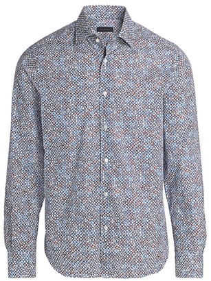 Saks Fifth Avenue COLLECTION Floral Medallion Shirt