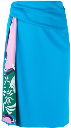 Emilio Pucci Printed Draped Skirt