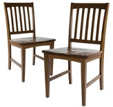 Threshold Slat Back Dining Chair (Set of 2