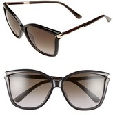 Jimmy Choo Women's 'Tattis' 58Mm Sunglasses - Dark Grey
