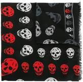 Alexander McQueen multi-tone skull-print scarf