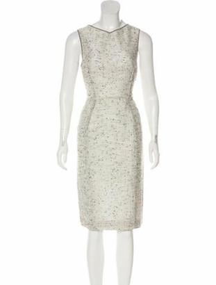 Valentino Sleeveless Midi Dress Grey