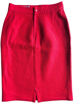 Gianni Versace Red Wool Skirt for Women Vintage