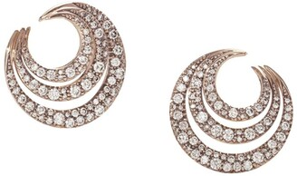 H.Stern Rose Gold And Diamond Iris Earrings