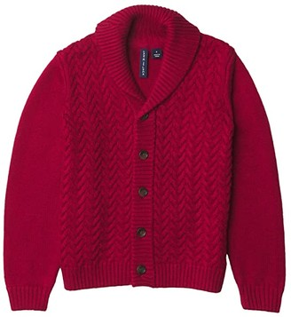Janie and Jack Cable Shawl Cardigan Pullover (Toddler/Little Kids/Big Kids) (Red) Boy's Clothing