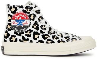 Converse Chuck 70 Leopard Canvas Hi-top Sneakers