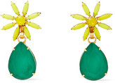 Thumbnail for your product : Elizabeth Cole Hasse 24-karat Gold-plated, Swarovski Crystal And Stone Earrings