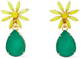 Elizabeth Cole Hasse 24-karat Gold-plated, Swarovski Crystal And Stone Earrings
