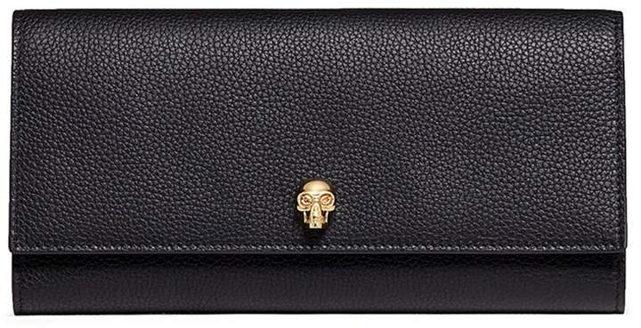 Alexander McQueen Skull leather travel wallet