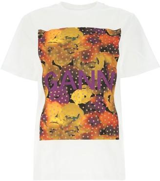 Ganni Logo Print T-Shirt