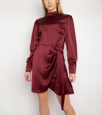 New Look Gini London Satin High Neck Dress