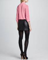 Alice + Olivia Arie Tie-Neck Blouse, Pink