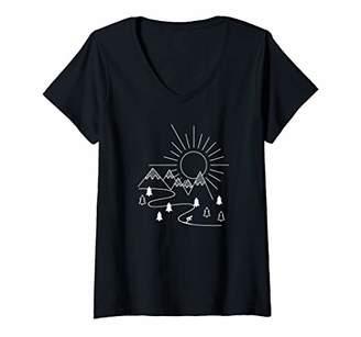 Womens Ski V-Neck T-Shirt