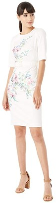 Ted Baker Camliaa Jersey Bodycon Dress (Ivory) Women's Dress