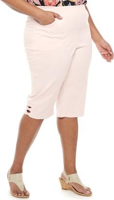 Croft & Barrow Plus Size Bow Hem Capri Pants