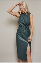 Thumbnail for your product : Little Mistress Pu Knot Waist Detail Bodycon Dress