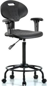 Blue Ridge Drafting Chair Ergonomics Casters/Glides: Casters