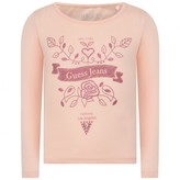 GUESS GuessGirls Peach Floral Print Jersey Top
