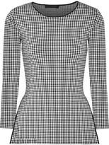 Alexander Wang Checked Stretch-knit Top - Black