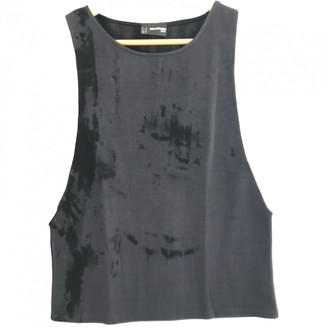 Paco Rabanne Anthracite Cotton Top for Women Vintage