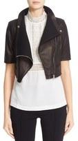 Yigal Azrouel Women's 'Gimmy' Crop Lambskin Leather Jacket