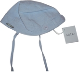 Christian Dior Blue Linen Hat Gloves