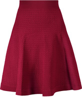Sandro Jony pleated stretch-knit skirt