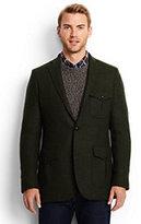 Lands' End Men's Tailored Fit Abraham Moon Hacking Jacket-Olive Heather