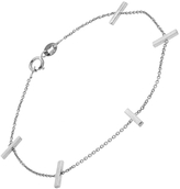 Jennifer Meyer Cross Bar Chain Bracelet - White Gold
