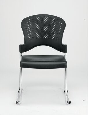 Eurotech Seating Aire Armless Classroom Stackable Chair (Set of 4 Seat Finish: Black