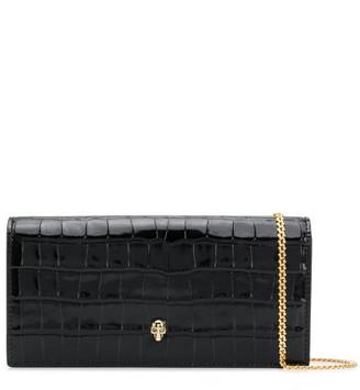 Alexander McQueen Leather Wallet On Chain