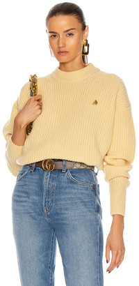 ATTICO Ribbed Sweater in Pale Yellow | FWRD