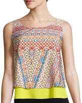 Bisou Bisou Sleeveless Tiered Cropped Top