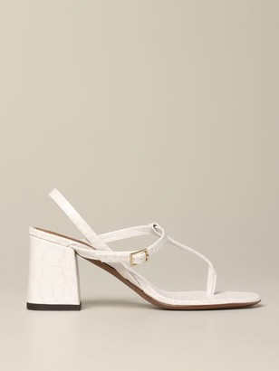 L'Autre Chose Sandal In Croco-printed Leather