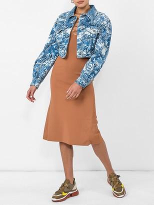 Stella McCartney Lace-up Jersey Dress Orange