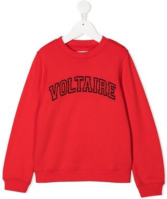 Zadig & Voltaire Kids Joe logo-print sweatshirt